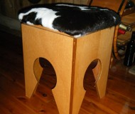 Fresian covered stool