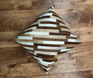 BROWN STRIPE HIDE CUSHION